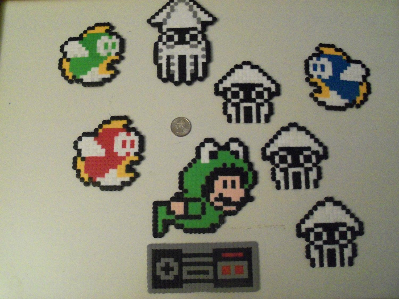 Mario Underwater Perler Beads Perler Bead Mario Perler