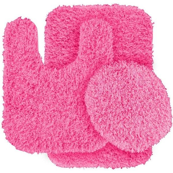 Dextra 3 Piece Blue Bath Rug Set Color Pink 58 Aud ❤ Liked On Adorable 3 Piece Bathroom Rug Sets Review