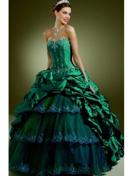 Punk Wedding Dresses 2013   green gothic wedding dress ...