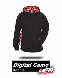 4afc39825f168 Hooded Digital Camo Sweatshirt by Badger Sport. Style Number 1464 ...