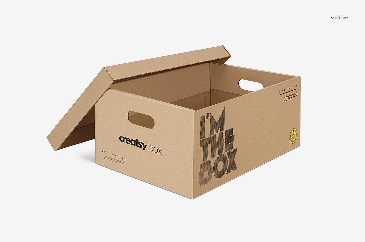 Download Moving Box Mockup Set Box Mockup Moving Boxes Free Graphic Design