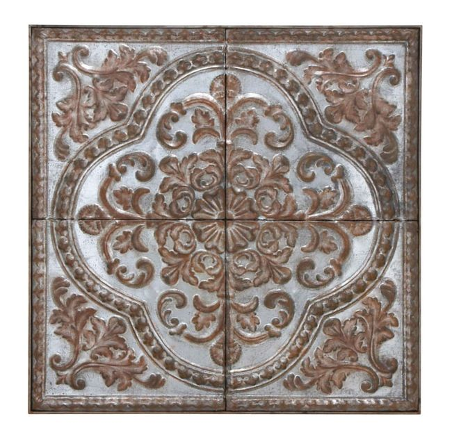 Decorative Metal Wall Tiles.Large 36 Square Embossed Metal Ceiling Tile Design Wall