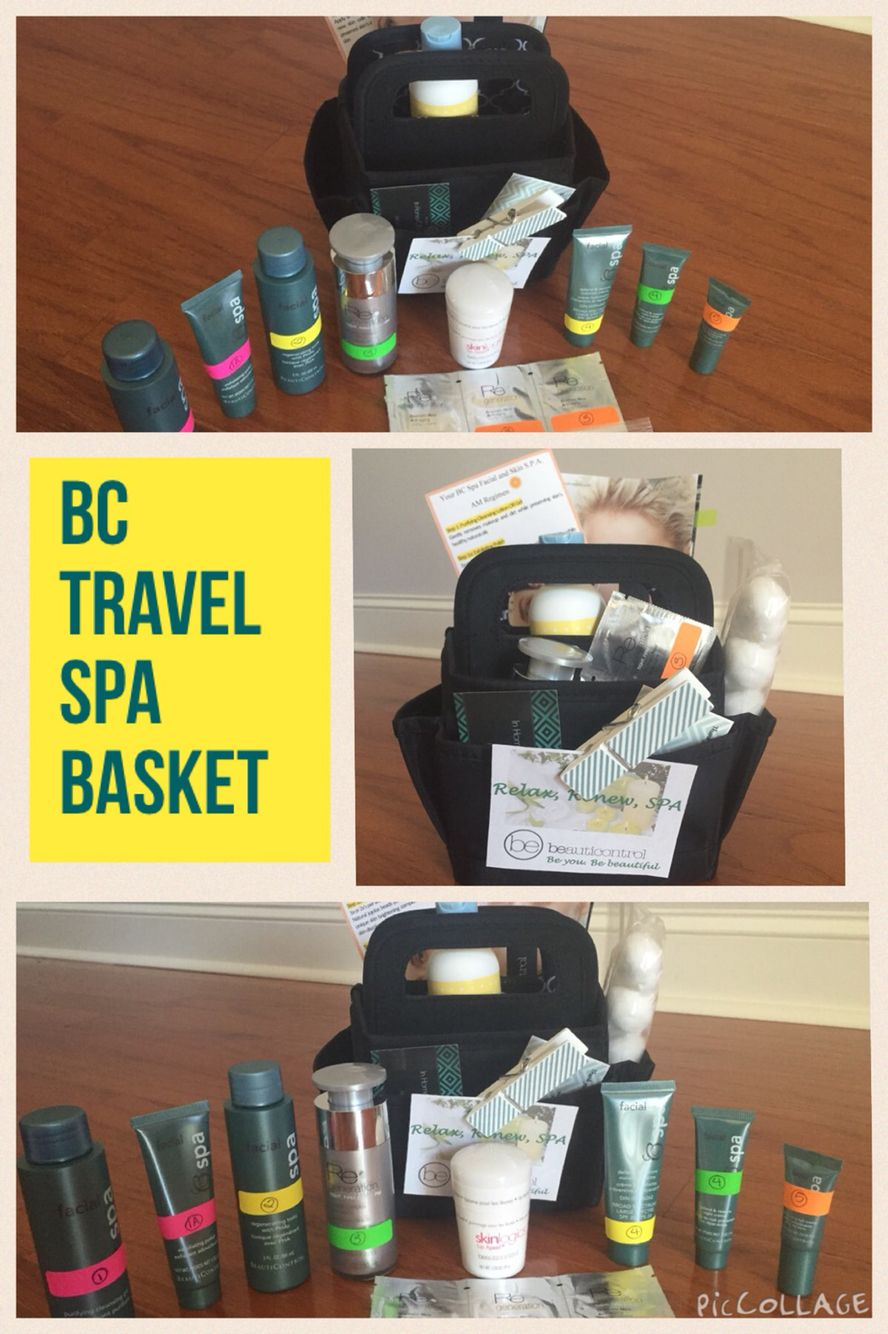 BeautiControl travel spa basket: BC spa facial, DNA cream samples ...