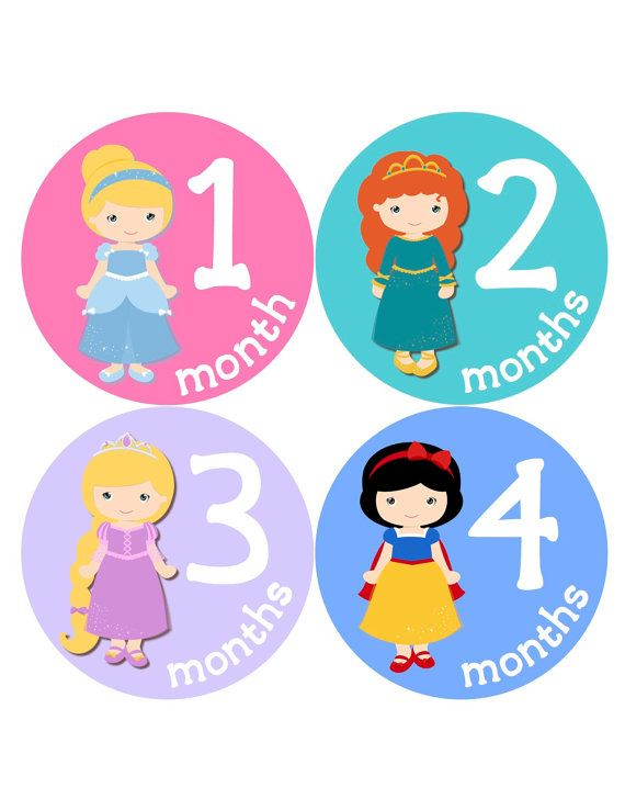 223c34a2e Princess Month Stickers Baby Girl Monthly Baby by BuddhaBellies ...