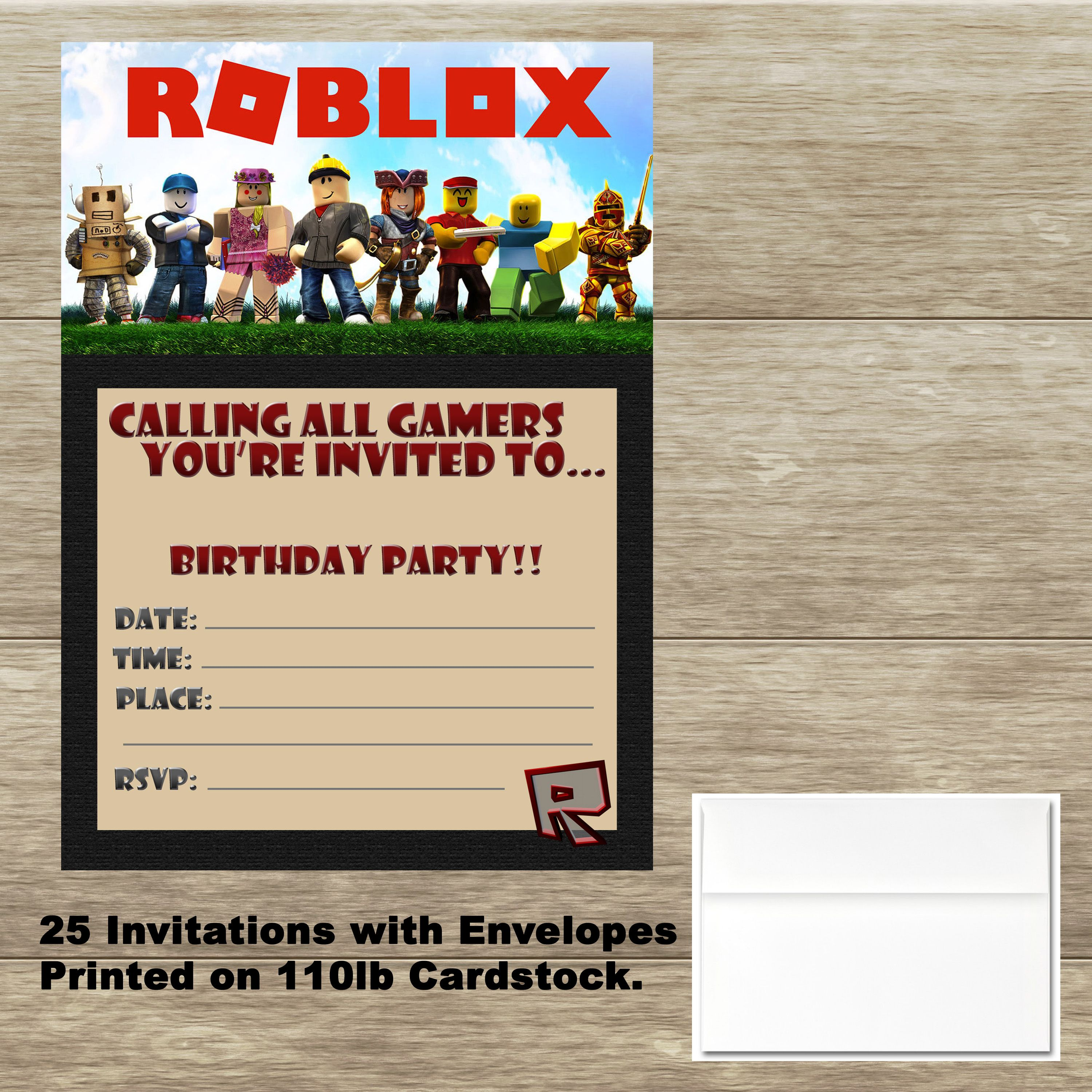personalised childrens roblox party