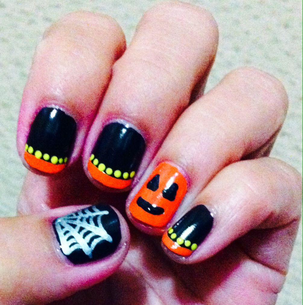Black and orange halloween nails | Halloween nails, Nail ...
