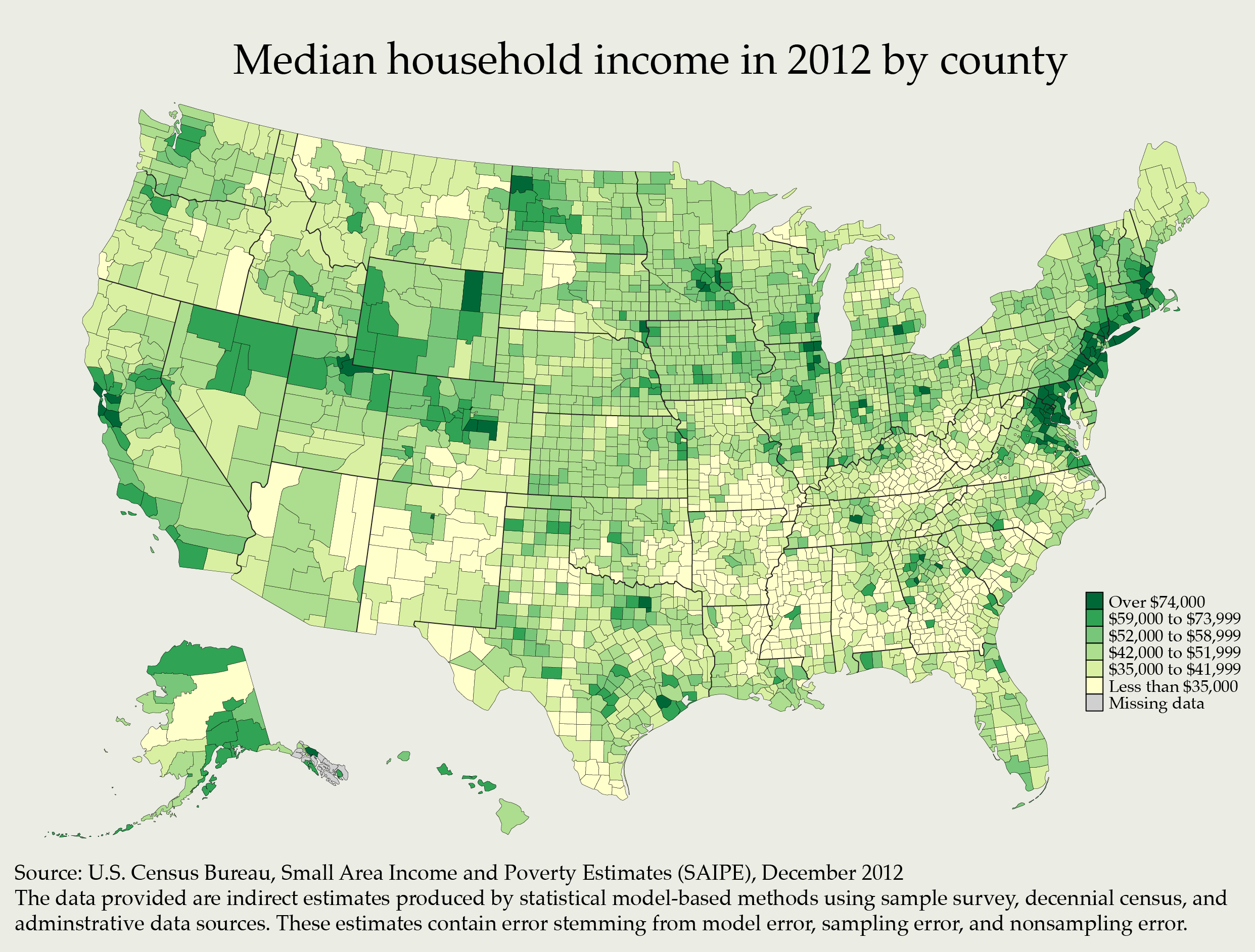 UScountyhouseholdmedianincome What Generates So Much - Richest county in usa