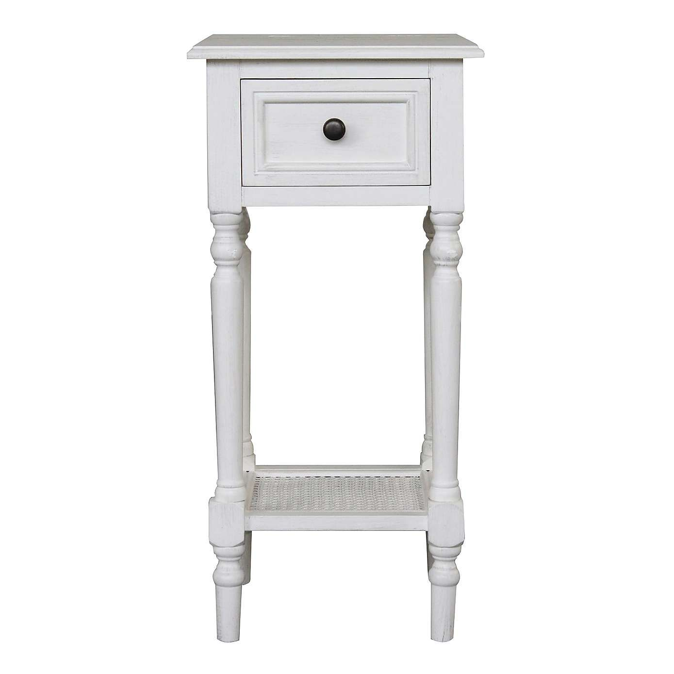 Lucy White Telephone Table | Dunelm