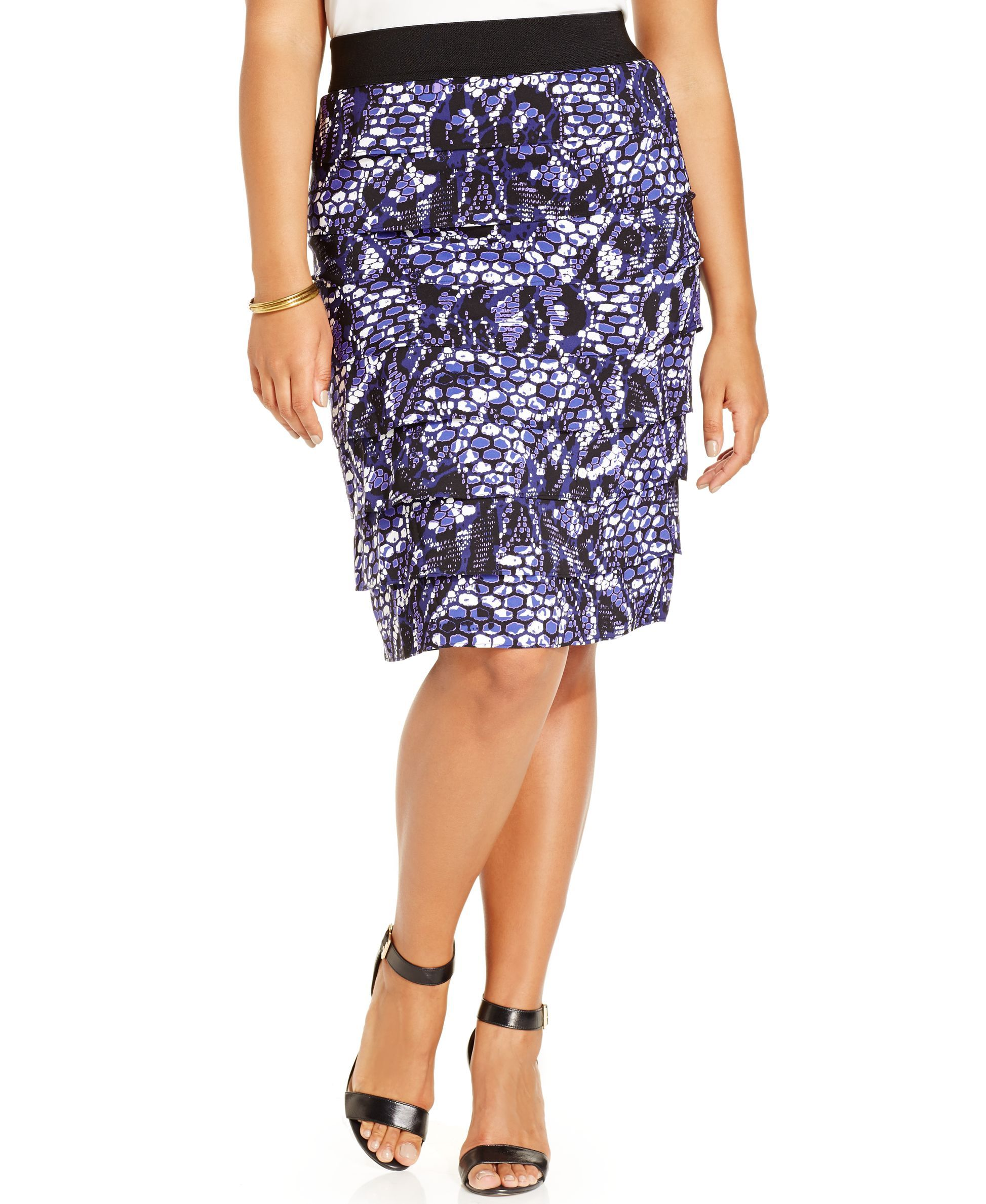 af5b18d10f7 Alfani Plus Size Tiered Pencil Skirt
