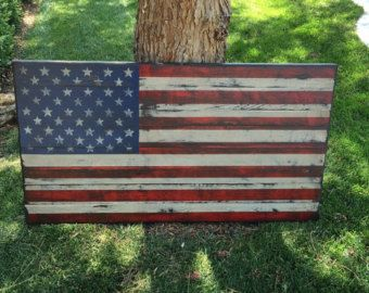 Wooden American Flag Wall Art large distressed american flag, distressed wood, usa, rustic wall