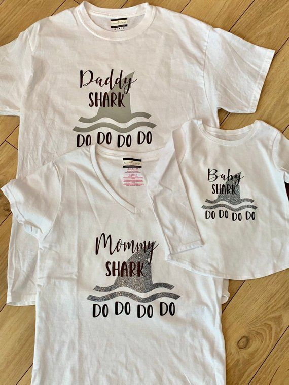 9fe45337 Mommy and Me Outfit Daddy and Me Outfit Baby Shark Matching Family ...