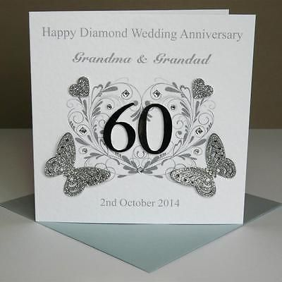 Beautiful Personalised Handmade Diamond Wedding Anniversary Card Years In Crafts Cardmaking Scrapbooking Hand Made Cards