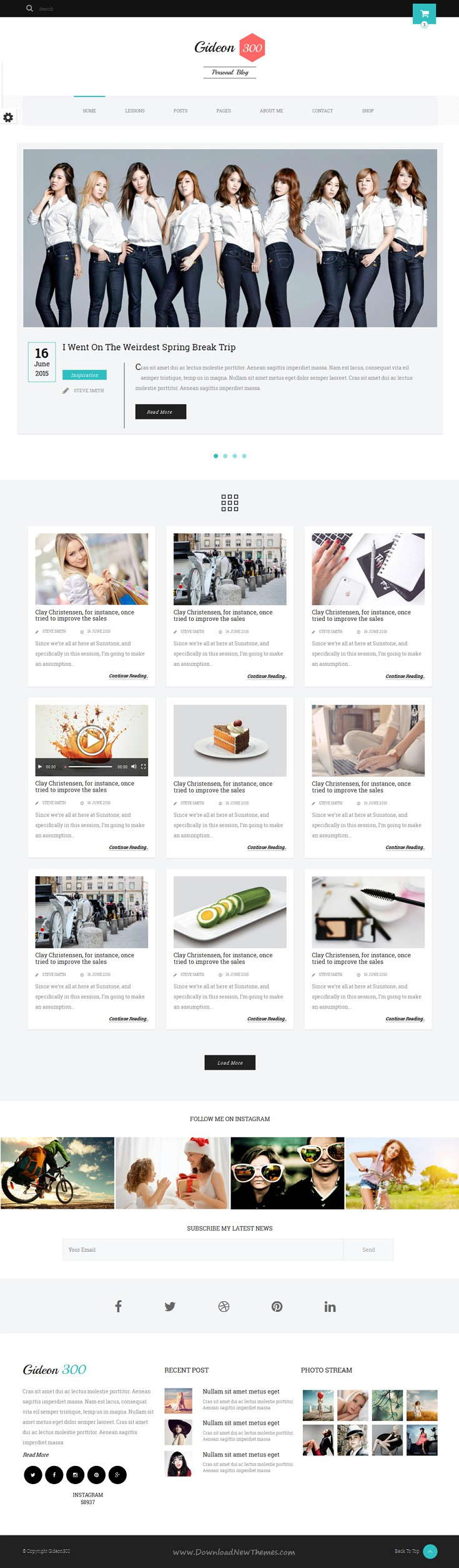 Gideon 300 - Personal Blog, LMS and eCommerce HTML Template ...