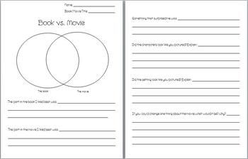 write comparison essay between book movie