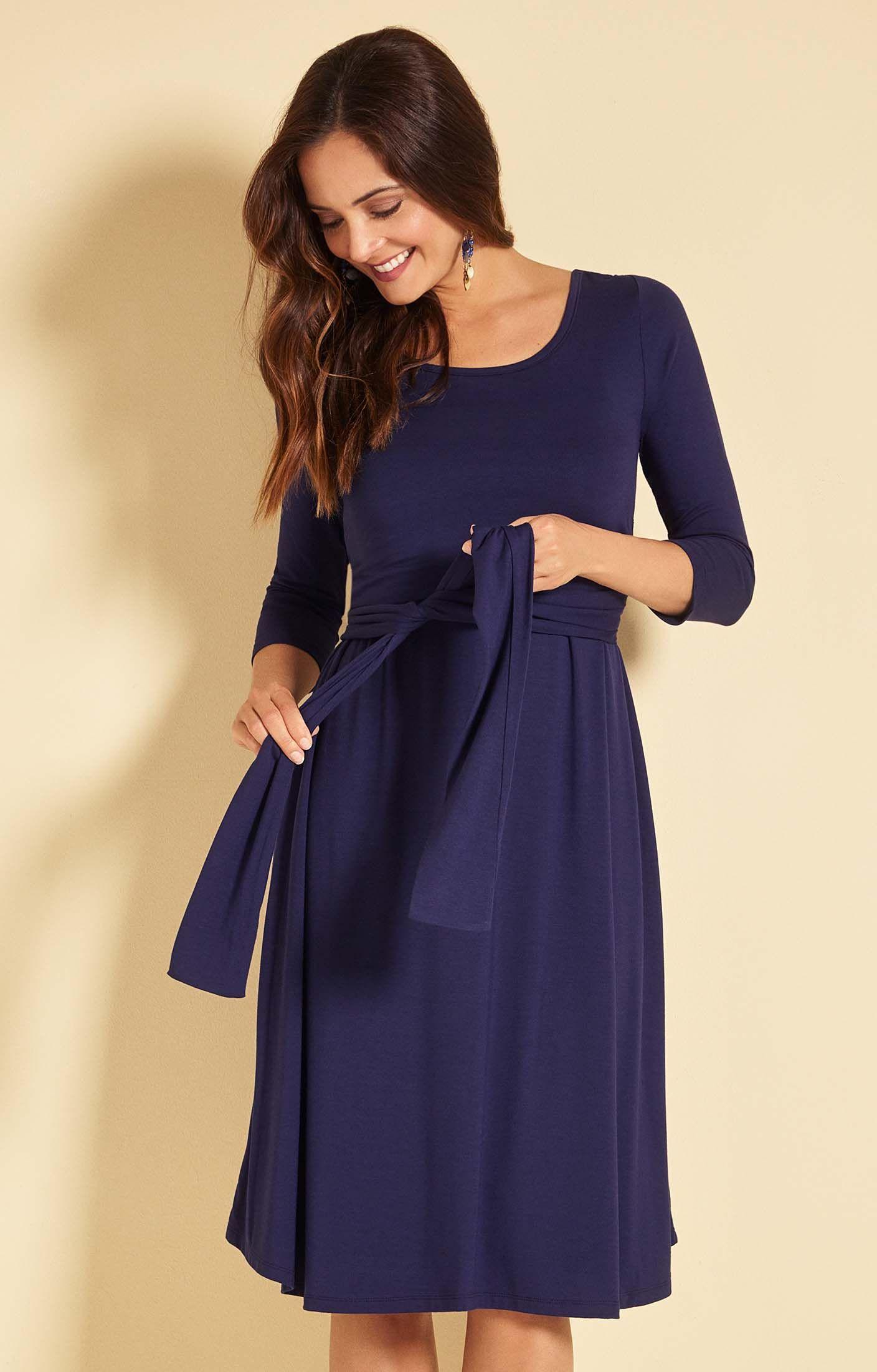 Stillkleid Naomi Cami Eclipse Blau - Umstandshochzeitskleider