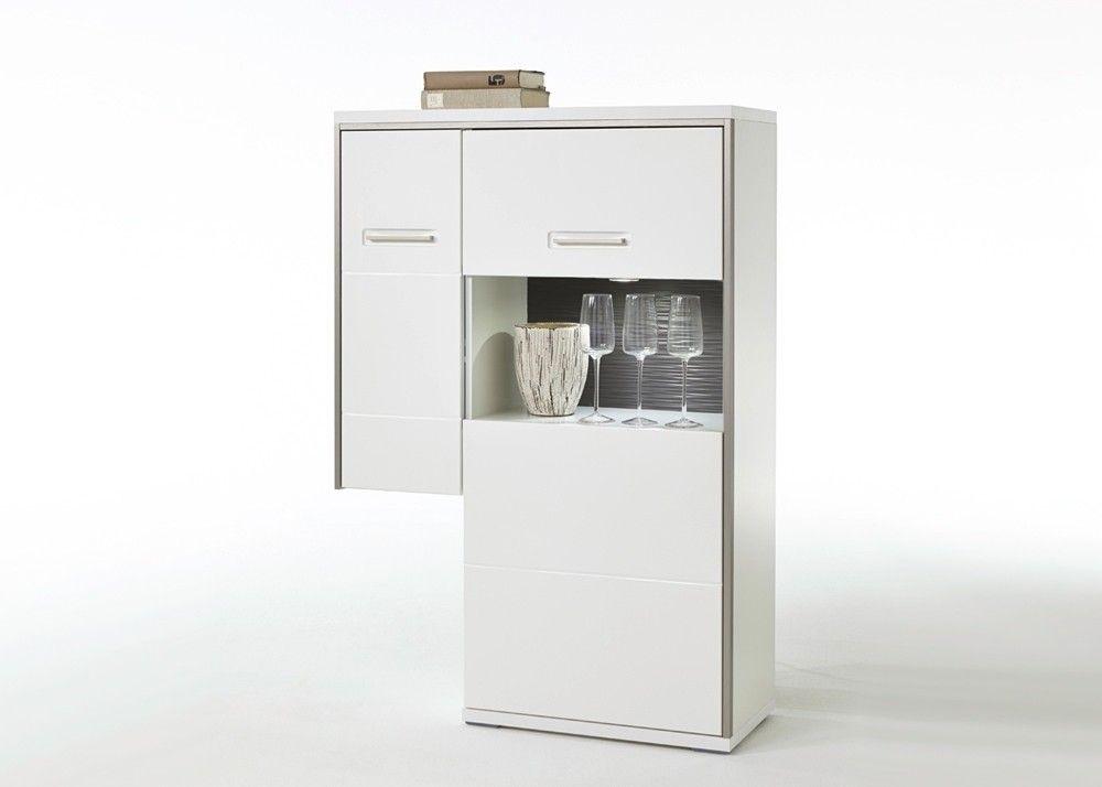 Anstellhighboard Trento Weiß Hochglanz Grau 20694 Buy Now At