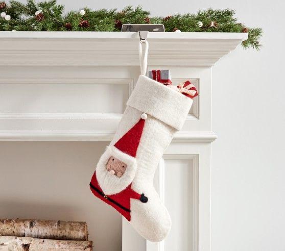 Modern Santa Felt Stocking Felt Stocking Christmas