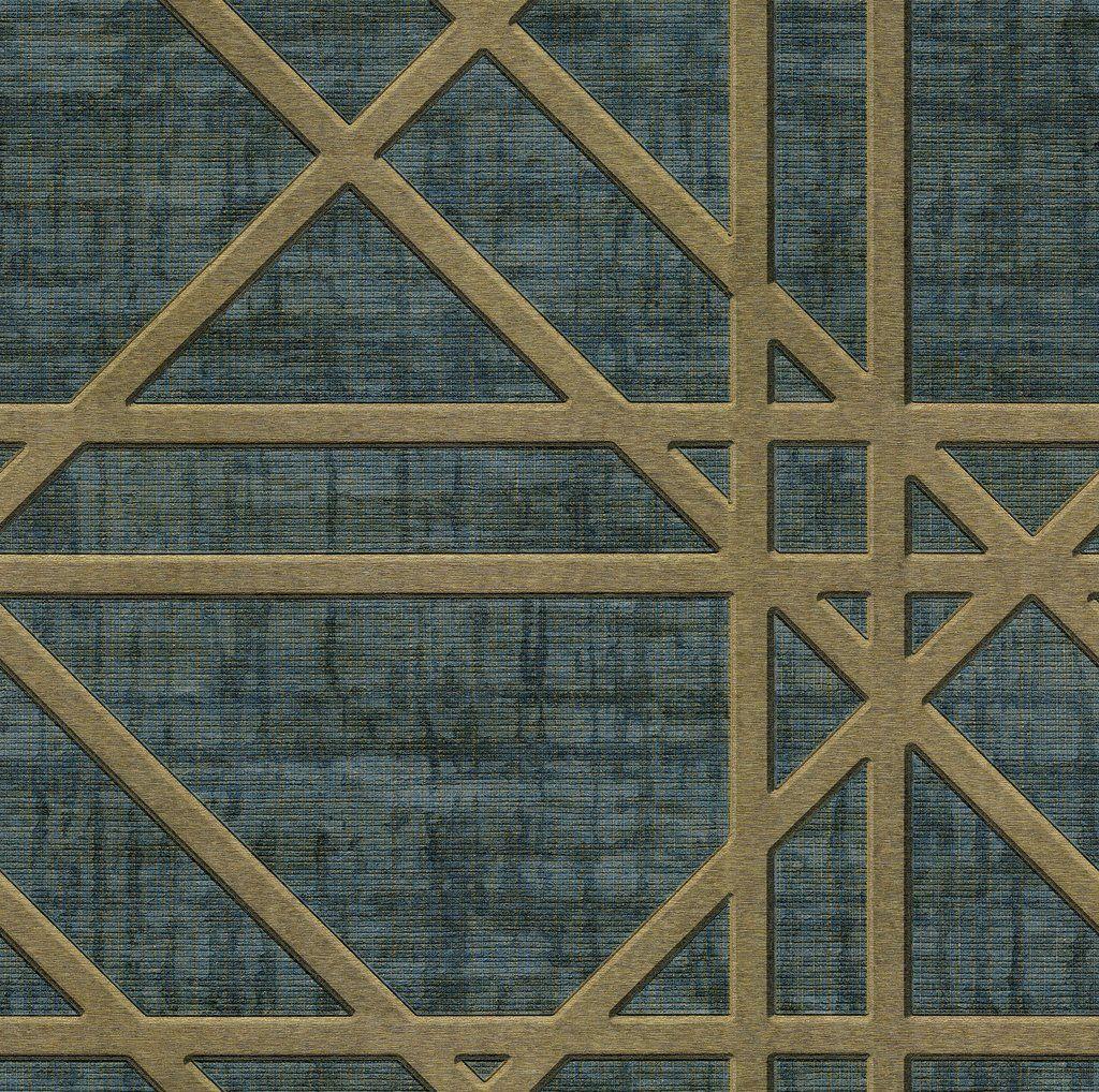 Fine Decor Zambaiti Wallpaper Matrix Facade Petrol Blue C88628 Dark Green Wallpaper Wallpaper Green Wallpaper
