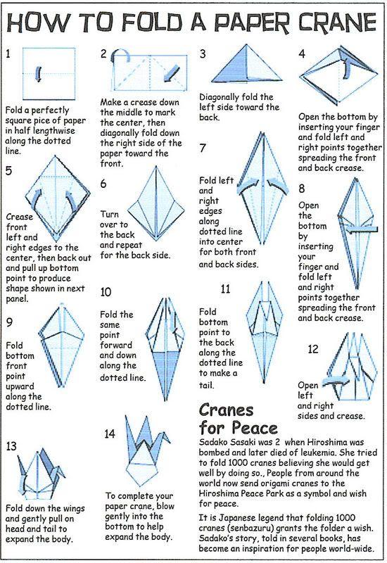 Origami crane instructions origami pinterest origami for How yo make a paper crane