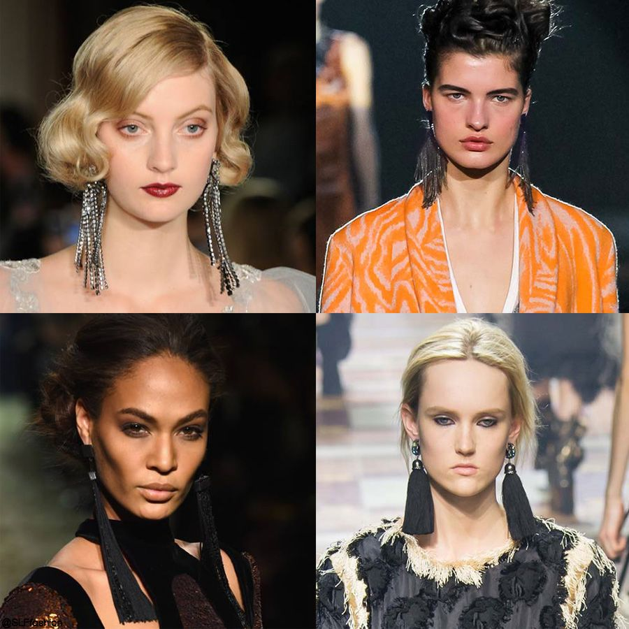 trendy jewelry style for fw 2015: statement fringed earrings