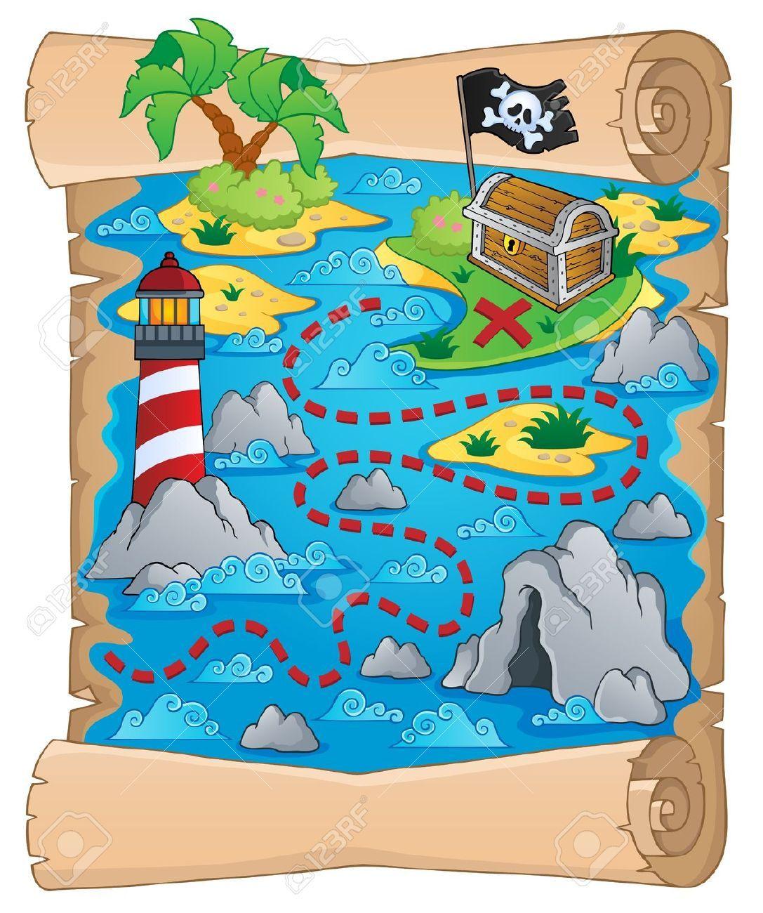 18559651 Mappa Del Tesoro Tema Archivio Fotografico Jpg 1087 1300 Mapas De Piratas Piratas Infantiles Tema Del Pirata