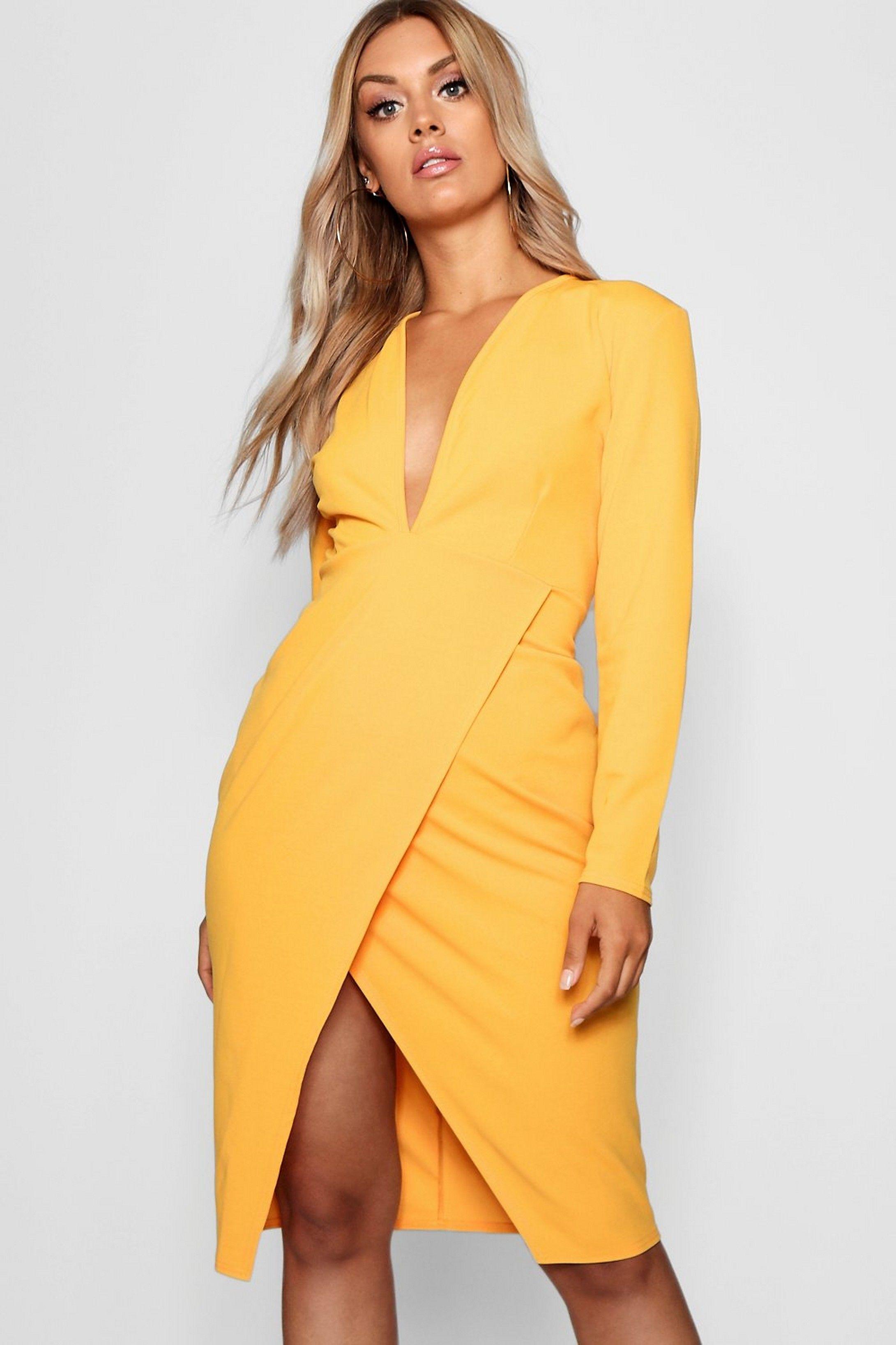 47289e118158 Plus Plunge Wrap Midi Dress in 2019 | My Style- Dresses | Dresses ...