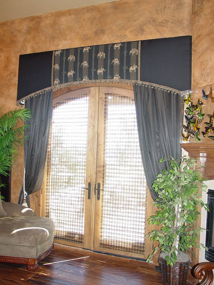 Workroom Intelligence Arched Cornice Board Curtains