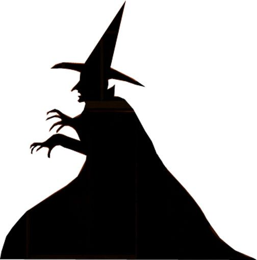 Make Witch And Grim Reaper Halloween Silhouettes Halloween