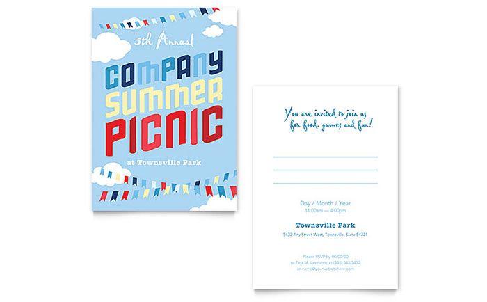 애드레이아웃 - 카탈로그, 브로셔, 리플렛, 배너 등 가장 빠른 시안을 - picnic invitation template