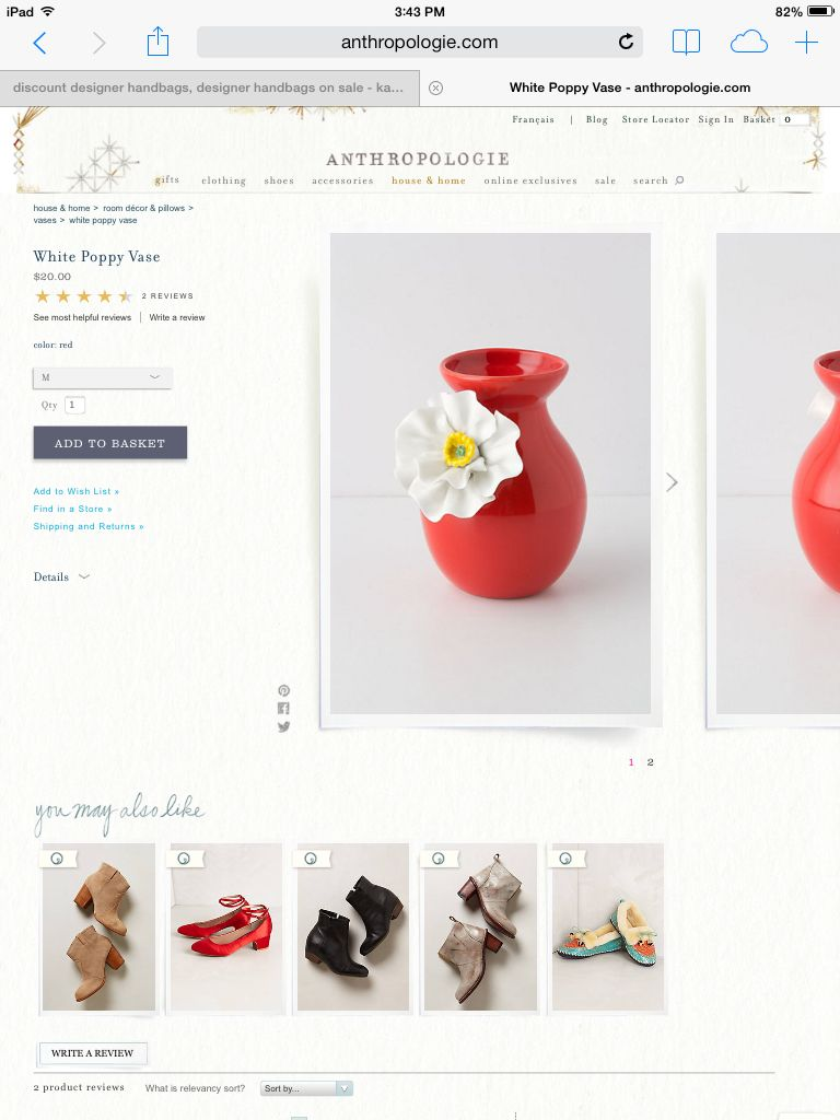 Anthropologie - my newest favorite shopping site!