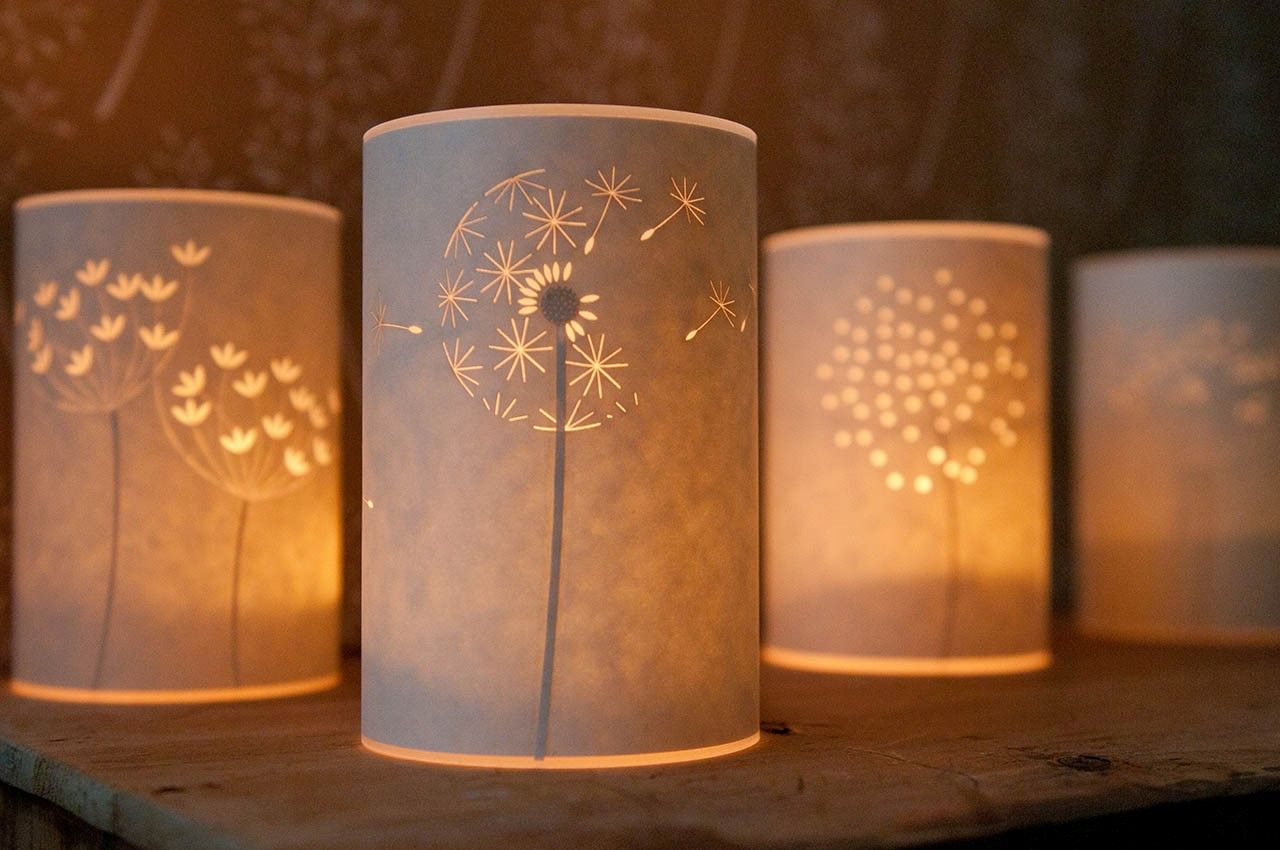 Vellum Parchment Paper Xacto Blade Would Be A Great Craft Project Hannah Nunn Inspiration Handmade Lamps Candle Cover Paper Lampshade
