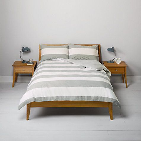 Buy John Lewis Rugby Stripe And Rugby Check Duvet Cover And Pillowcase Sets Pack Of 2 Online At Johnlewis Com Bed Duvet Covers Striped Duvet Covers