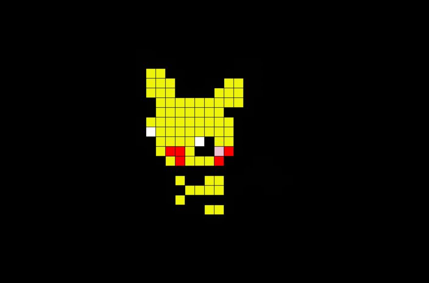 Pokemon Pichu Pixel Art Pokemon Cross Stitch Pixel Art