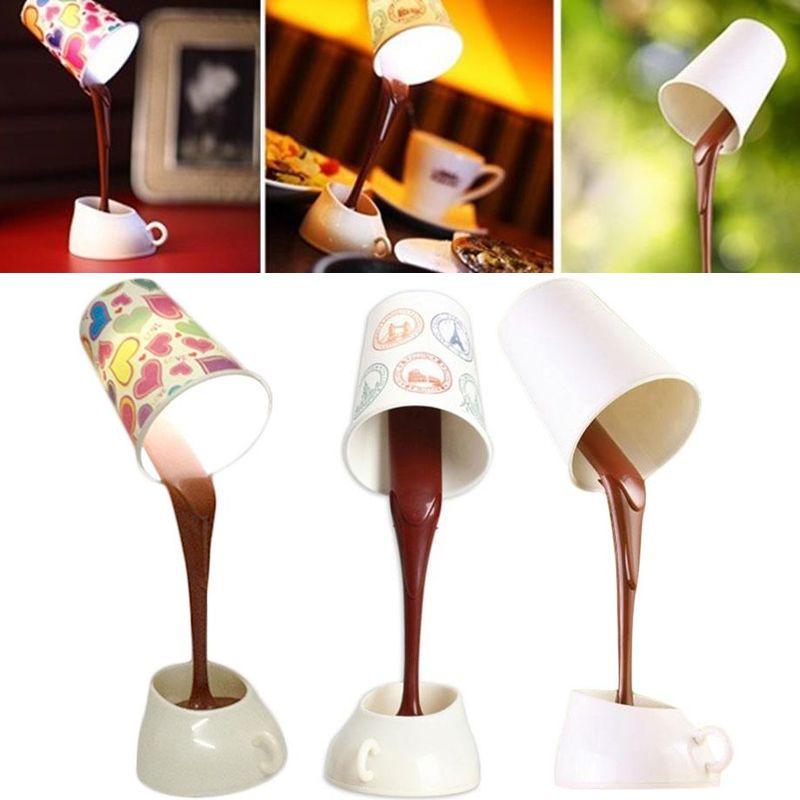 Coffee Pour Night Creative Desk Lamp Usb Home Cup Table Led Light 29eWYEHbDI