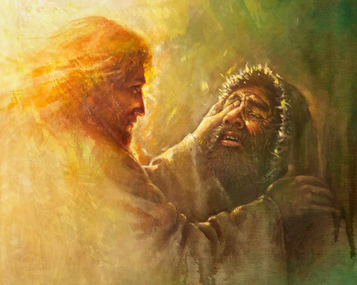 Healing the Blind Man | Pictures of jesus christ, Jesus pictures, Jesus painting