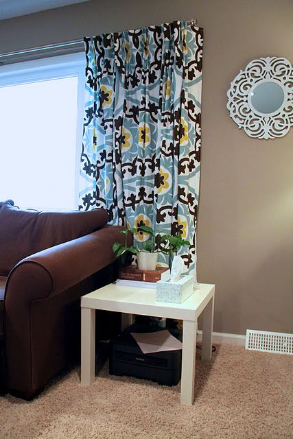 Diy Pinch Pleat Curtains From Tablecloths Our House