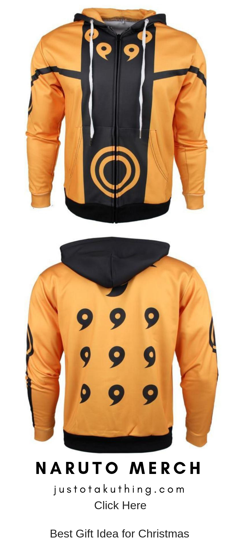 Naruto Shippuden Hoodie Uzumak Bijuu mode Anime Zip Hoodie