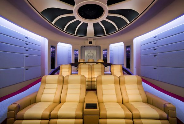 The Most Out Of This World Star Trek Themed Home Theater Home