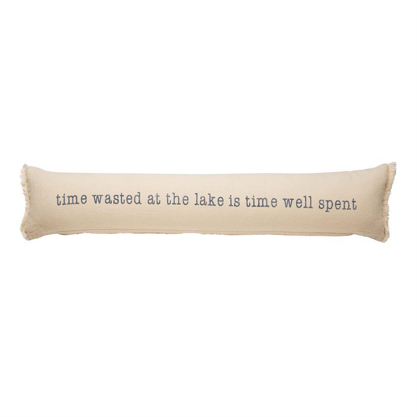 Lake Time Well Spent Long Skinny Pillow