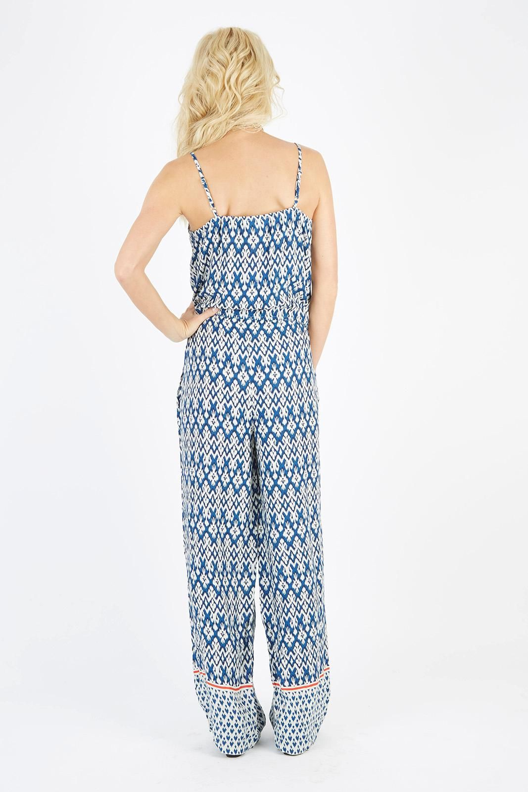 f89905f5f5a20 Printed Jumpsuit by BEACHLUNCHLOUNGE - EVEREVE