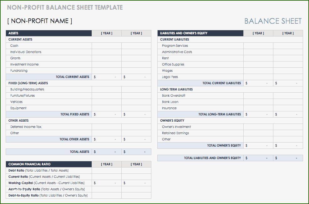 15 Splendid Non Profit Balance Sheet Template That Will Wow You Balance Sheet Template Balance Sheet Bookkeeping Templates Non profit balance sheet template