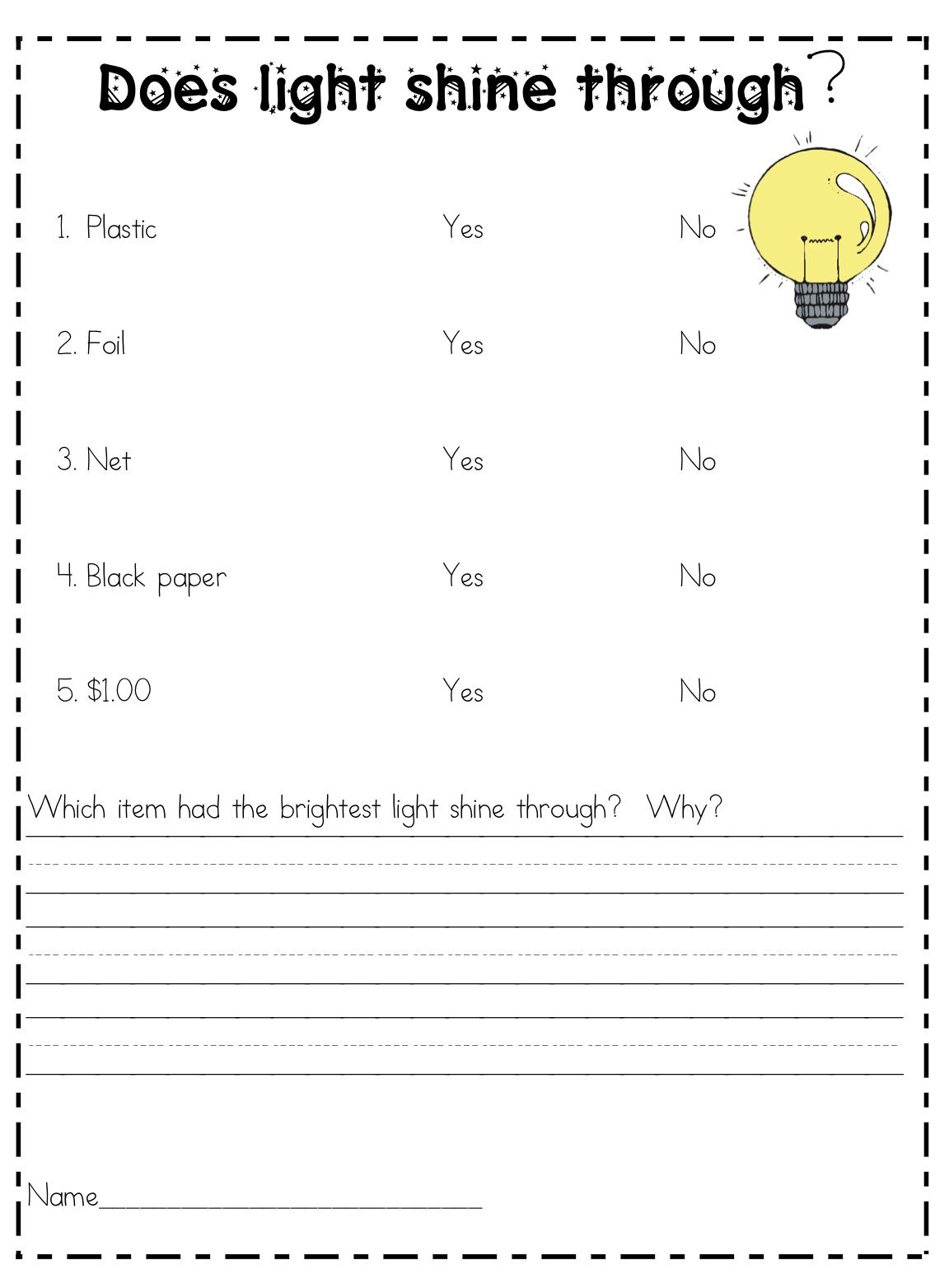 medium resolution of What the Teacher Wants!: Science Experiments for Elementary   Light  science
