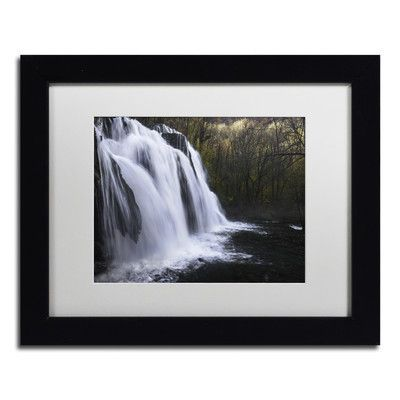 """Trademark Art """"Evanescence"""" by Mathieu Rivrin Framed Photographic Print Size: 11"""" H x 14"""" W x 0.5"""" D"""