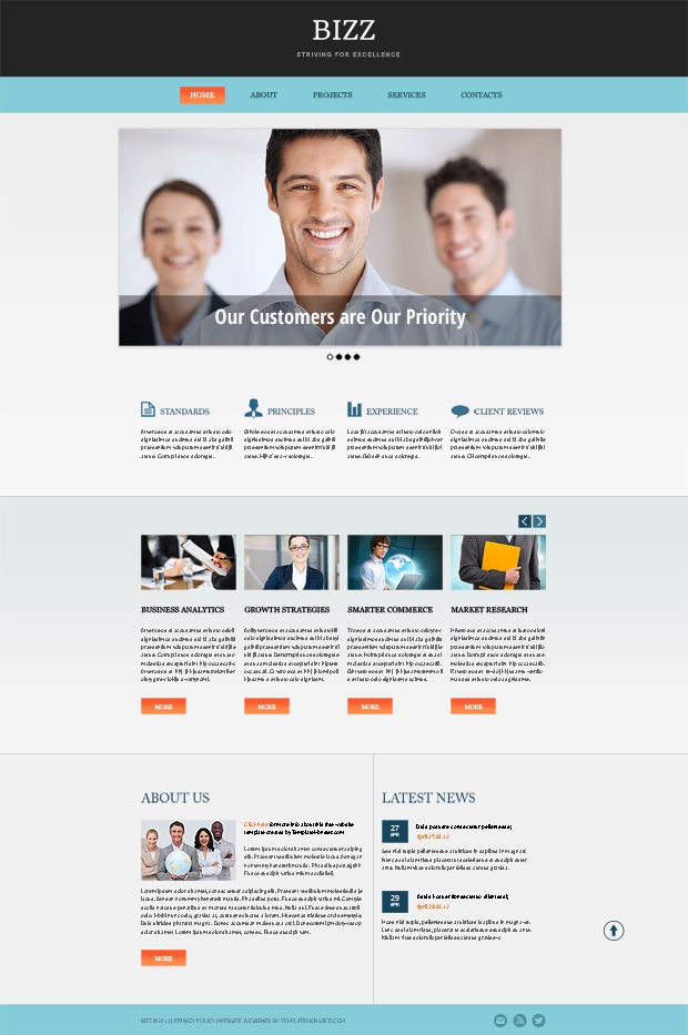 Free html5 business theme in clean corporate style web design free html5 business theme in clean corporate style accmission