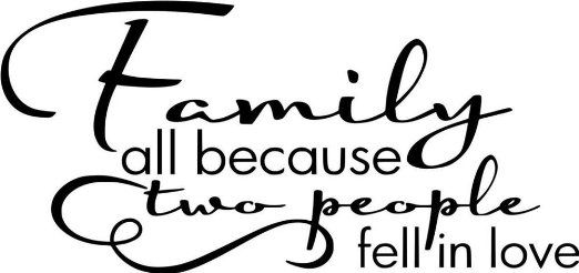 Design with Vinyl Design 113 Family All Because Two People Fell In Love Quote Vinyl Wall Decal, 12-Inch By 20-Inch, Black - Amazon.com