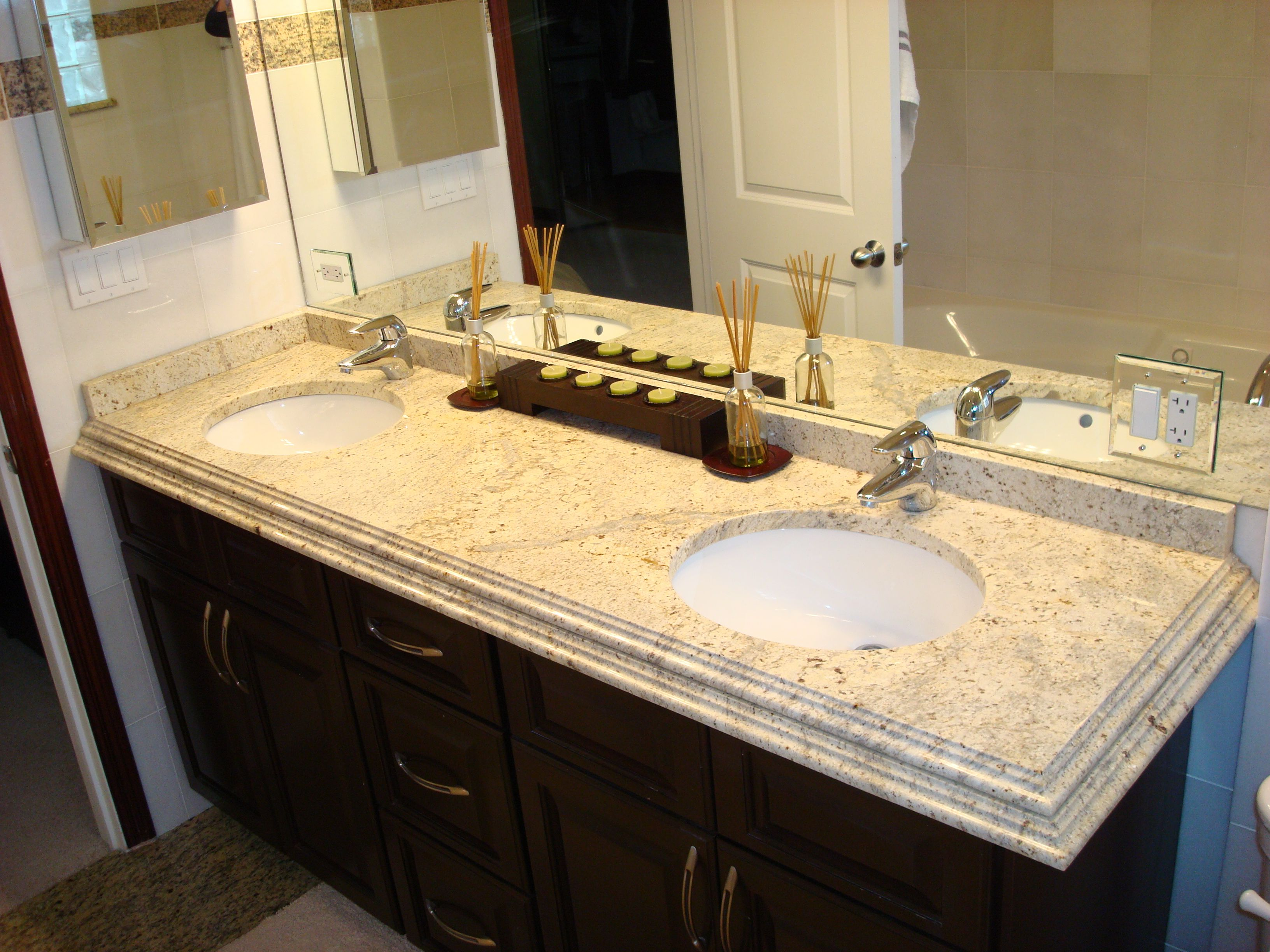 Add Elegant Bathroom Looks Using Cultured Marble Bath Vanity