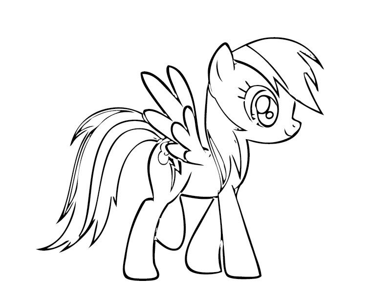 Rainbow Dash Stand Coloring Pages | Jazzi\'s 3rd bday rainbow dash ...