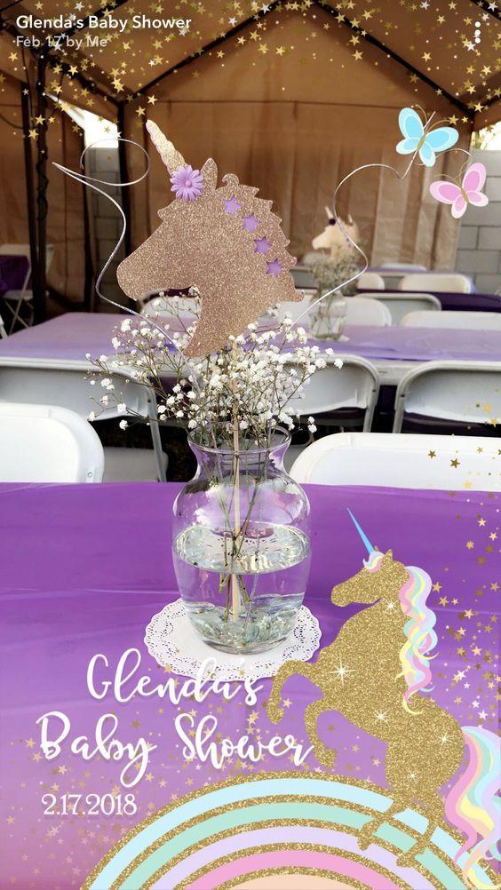 Centros de mesa de unicornios para xv a os cristales - Cristales para mesa ...