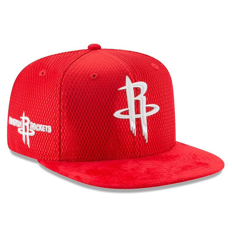 size 40 6fd09 b0640 Houston Rockets New Era Youth 2017 NBA Draft Official On Court Collection  9FIFTY Snapback Hat - Red