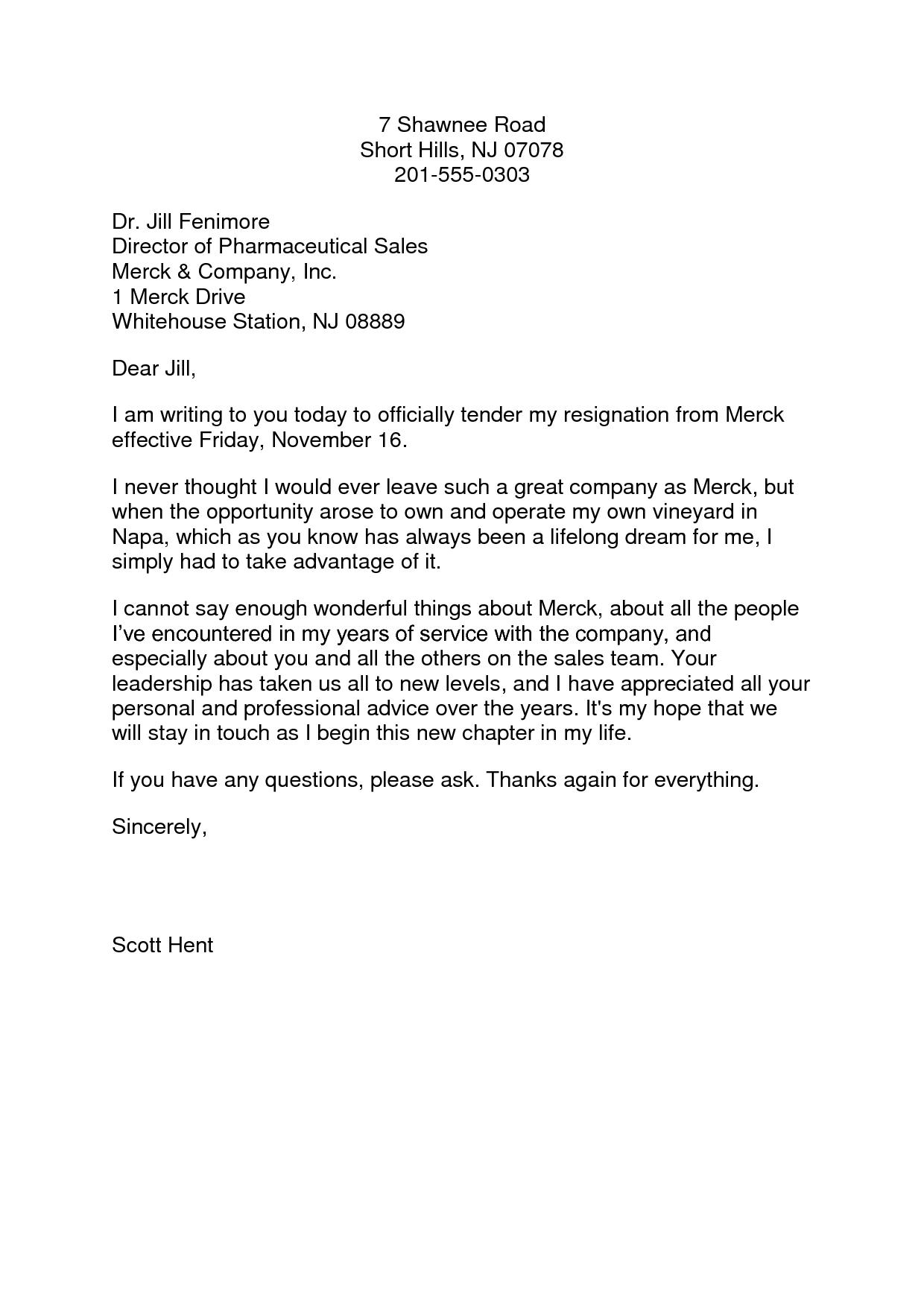 Pin oleh jobresume di Resume Career termplate free  Resignation letter format Resignation